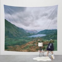 Nature Wall Tapestry, Country Decor, Farm Photography, Scenic Tapestry, Wales Wall Art, Large Mountain Tapestry, Lake Tapestry