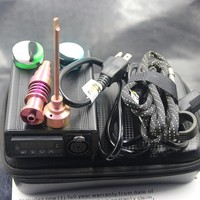 mini electric Colored Titanium Dab nail universal DNail set for 10 16 20mm heat coil glass water pipe e cigs Rig