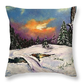 Blue, White Purple Throw Pillow, Christmas throw pillow pillow Art Pillow, Decorative Pillow Cover, Cushions, Couch Pillow, Sofa Pillow