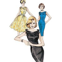 Butterick 6582 Retro Dress Pattern From 1960 by MissBettysAttic