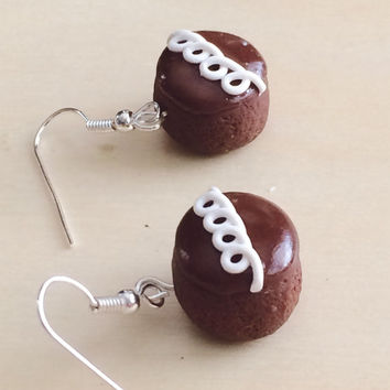 Swir Cupcake Polymer Clay Earrings