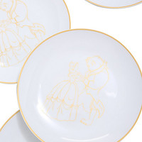 Disney Beauty And The Beast Ceramic 10-Inch Plate Set
