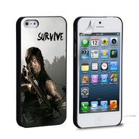 THE WALKING DEAD Daryl Dixon Survive iPhone 4 5 6 Samsung Galaxy S3 4 5 iPod Touch 4 5 HTC One M7 8 Case