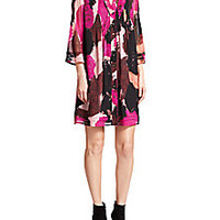 Diane von Furstenberg - Layla Printed Silk Dress - Saks Fifth Avenue Mobile