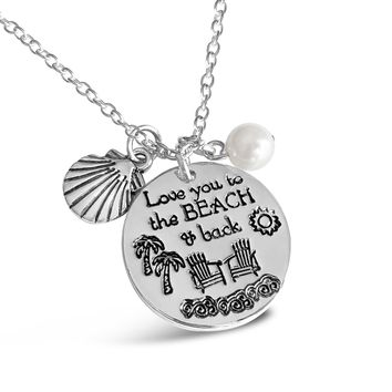 Love You To The Beach And Back Beach Necklace