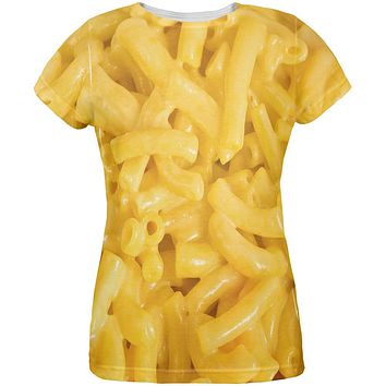 Mac and Cheese All Over Womens T Shirt