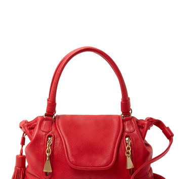 See by Chloe Women's Medium Double Zip Front Leather Satchel - Red