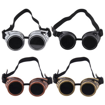 Cyber Goggles Steampunk Glasses Vintage Retro Welding Punk Gothic Victorian Top Quality~~
