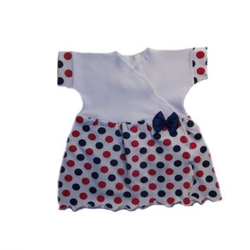 Baby Girls' USA Dotty Dots Sassy Dress