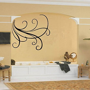 Swirl Lines Vinyl Wall Words Decal Sticker Graphic