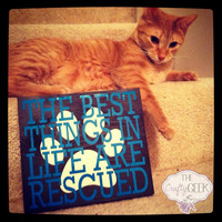 The Best Things In Life Are Rescued 8x8 Wood Sign