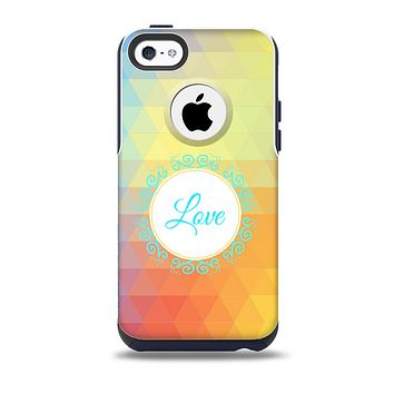 The HighLighted Colorful Triangular Love Skin for the iPhone 5c OtterBox Commuter Case
