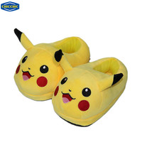 "[CHICCHIC] Anime Pokemon Pikachu Cute Kids Plush Home Winter Slippers Indoor Shoes 23cm/9"" 16092459"