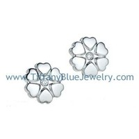 Find The Last Cheap Tiffany Paloma's Crown of Hearts Silver Earrings with Diamonds In Tiffanybluejewelry.com