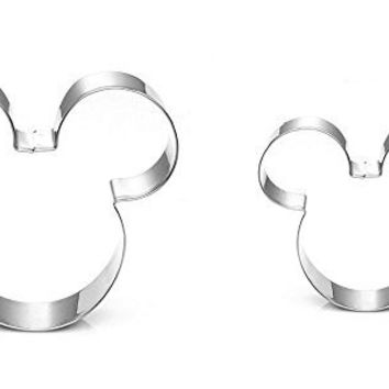 Cartoon Cookie Cutter - Food Grade Stainless Steel - Cushioned Shape Set for Baby, Mom, Kids, Adults - Best Gift for Cookies, Sandwich, Christmas, Halloween, Bakeware, Food, Bread, Treats, Set of 2