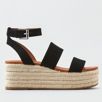 AEO Gilda Espadrille Wedge, Black