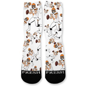 Baker Mayfield Browns Custom Athletic Fresh Socks