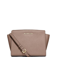 Michael Michael Kors Selma Medium Messenger Bag, Dark Dune LAVELIQ