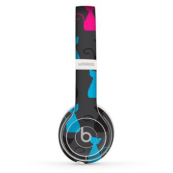 The Color Vector Cat Collage Skin Set for the Beats by Dre Solo 2 Wireless Headphones