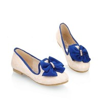 Carol Shoes Fashion Bows Womens Flat Shoes Pumps