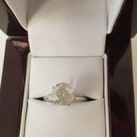 2.47 Carat H I1 Diamond Engagement Ring 14K Solitaire Anniversary Bridal Certified Jewelry Looks Great!! Huge Size Bargain!