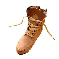 Hee Grand Women Flat Fashion Suede Lace-Up Martin Ankle Boots