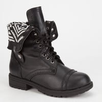 Happy Soda Oralee Girls Boots Black/White  In Sizes