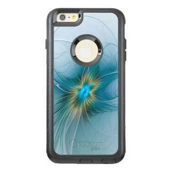 The little Beauty, Abstract Fractal Art with blue OtterBox iPhone 6/6s Plus Case