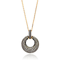 .925 Sterling Silver Open Circle Necklace