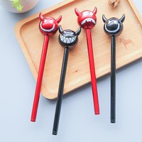 4pcs / lot Red and Black Ghost Gel Pen for Halloween ,  Funny Cool Evil Gel Pen for School Children Gift as School Stationary