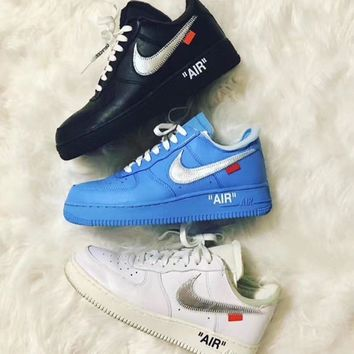 Off-White x Nike Air Force 1 ¡¯07 Low MCA Chicago ComplexCon MoMA x Virgil University Blue