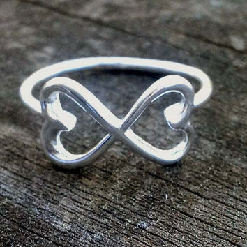 Double Heart Infinity Ring by donnaodesigns