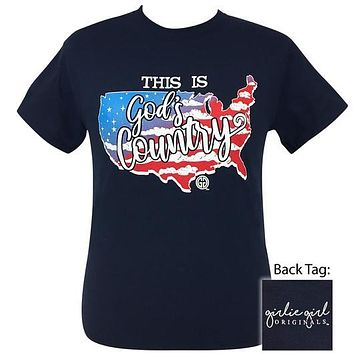 Girlie Girl Originals Preppy God's Country USA T-Shirt