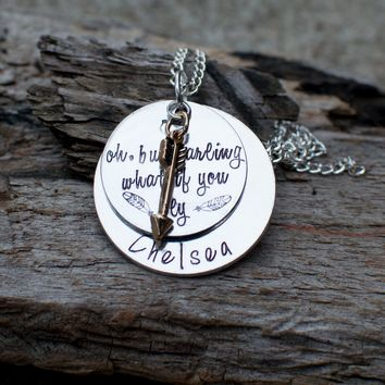 What if I fall, But My Darling What if You Fly, Inspirational Necklace