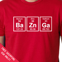 BaZnGa tshirt Periodic Table mens womens T-shirt Chemical Elements shirt tshirt Christmas gift tshirt geek nerd science shirt tee