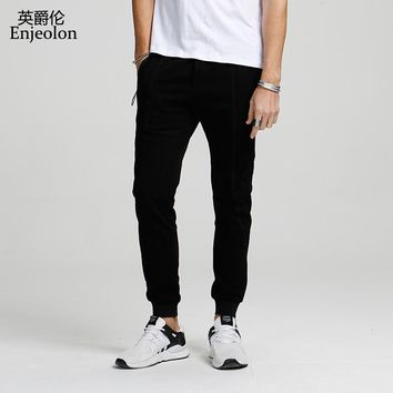 long trousers pants men black solid sweatpants for men quality clothing males fashion Causal clothes