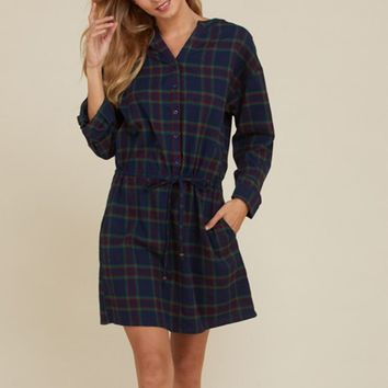 Felicia Flannel Dress