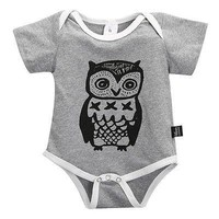 Cotton Baby Girl Bodysuit Body Baby Owl Print Clothing Sets Branded Newborn Summer Boy Girl Jumpsuits Body Infantil Clothes