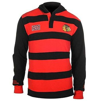 Mens Chicago Blackhawks Rugby Hoody