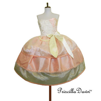 Ready to ship Three layer fifties Inspired Cake Bow Lolita Prom Cupcake Alternative Wedding Dress ------One of a Kind