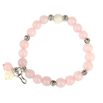 Rose Quartz + Moonstone Fertility Goddess Bracelet