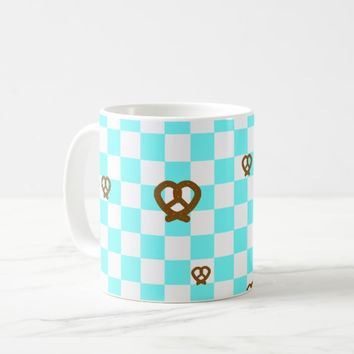Bavarian Checkerboard with Pretzels Coffee Mug