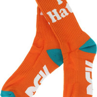 DGK Haters Crew Socks Orange/Mint/White 1 Pair