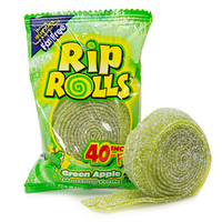 Sour Rip Rolls - Green Apple: 24-Piece Display