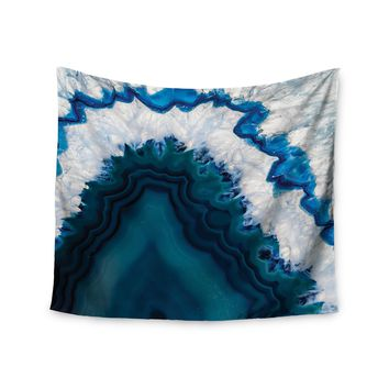 Kess Original Blue Geode Nature Photography Wall Tapestry