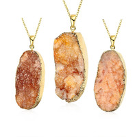 Fire Opal Natural Crystal Necklace