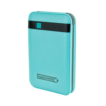 InstaCHARGE 11000mAh Portable Device And Phone Charger - Teal