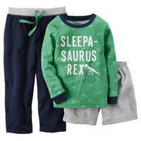 3-Piece Cotton & French Terry PJs
