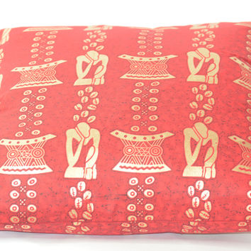 Red African Print pillows