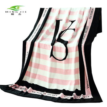 Ming jie VS Pink Blanket Victoria/'s secret Fleece Bedding Throws on the bed/Sofa/Car Portable Plaids Bedspread Gift Hot sale